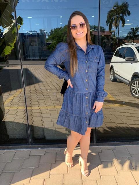 Vestido Babado 08 Premium Escuro